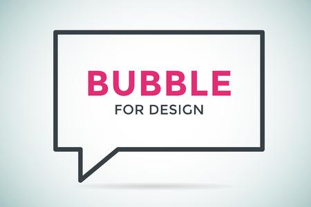 Citer vecteur bulle modèle vierge. Citer bulle icône. Modèle de bulle vide. Conception de citation, citant boîte, texte signe de bulle, modèle document d'information de devis. Formulaire de soumission. Modèle de bulle définie. Blanc devis icône vide isolé Banque d'images - 45855135