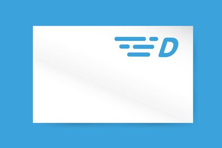 d: Fast line D letter icon monogram. D and lines monogram. Vector d line letter. D letter design. Abstract D letter. Motion lines d line symbol. Thin line style. Transport delivery D motion icon business card