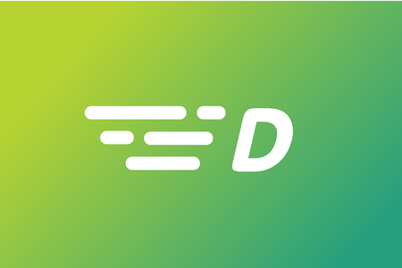 d: Fast line D letter icon monogram. D and lines monogram. Vector d line letter. D letter design. Abstract D letter. Motion lines d line symbol. Thin line style. Transport delivery D motion icon Illustration