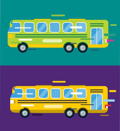 bus stop: Autob�s urbano estilo de dibujos animados del vector. Bus icono silueta. Bus silueta del vector de la historieta. Transporte urbano r�pido m�vil autob�s. Bus de movimiento r�pido. Ilustraci�n amarilla del autob�s de vectores. Aislado objeto de bus vectorial