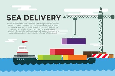 Vector vervoer concept illustratie. Stock Illustratie