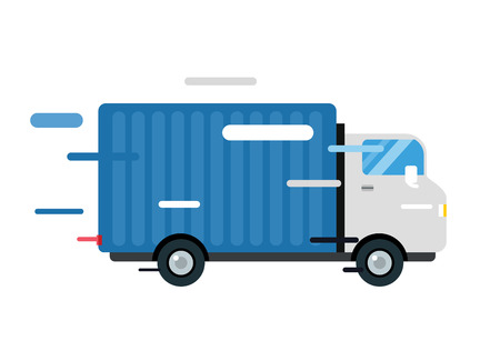 commercial van: Delivery vector truck.  Illustration