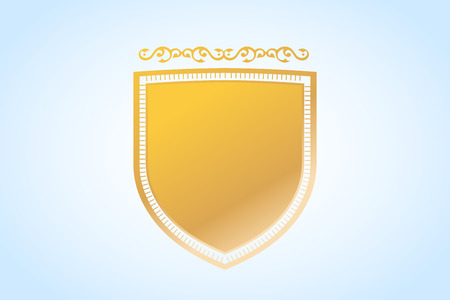 shield: Vintage old style shield icon.