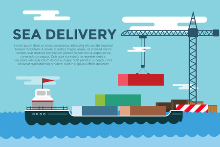 container port: transportation concept illustration.