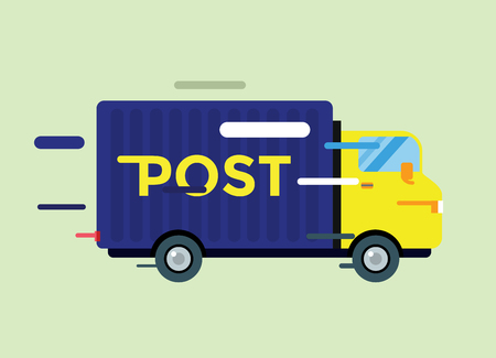 mail delivery:  Delivery service van.  Illustration