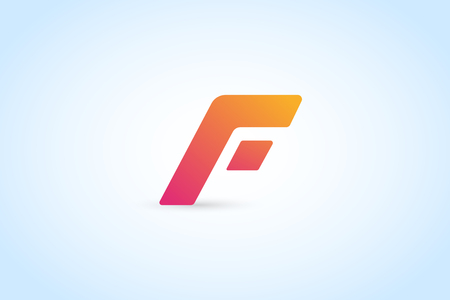motion: Fast line F letter logo monogram.  Illustration