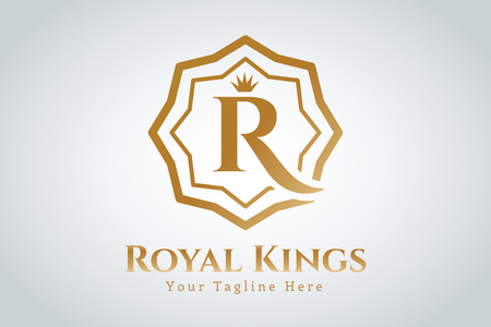 crowns: Royal logo vector template.  vintage modern style Illustration