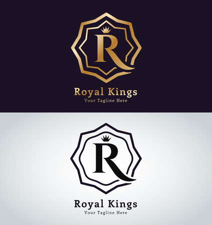 Kings symbol. Royal crests monogram.