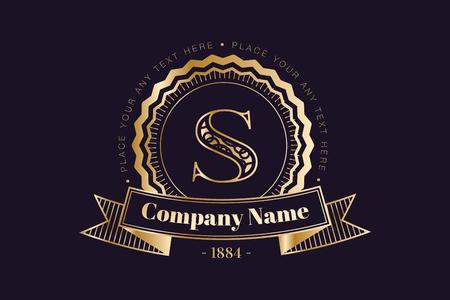 logo: Vintage old style logo icon monogram.