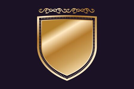 Vintage old style shield icon.