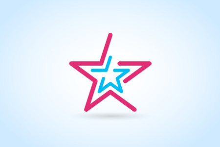 star logo: Star vector logo. Star icon. Leader boss star, winner, star rating, rank. Star astrology symbol. Starburst logo isolated. Star icon logotype. Sport star logo. Astronomy star logo. Monogram star logo