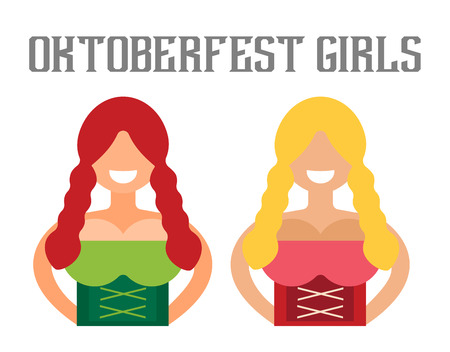 woman girl: Vector illustration Oktoberfest german woman girl abstract silhouette. Comic bubble speech icon. Oktoberfest vector people. German woman girl in national costume. German Oktoberfest girls silhouette Illustration