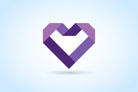 togetherness: Heart icons vector  Illustration