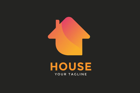 house property: Green house home vector