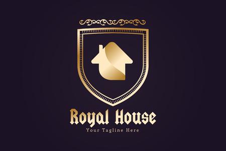 modern house exterior: Green house home vector