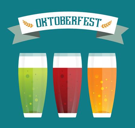vasos de cerveza: Iconos de la cerveza conjunto de vectores. Botella de cerveza, vidrio de cerveza y la etiqueta de la cerveza. Tazas de cerveza silueta, iconos vectoriales cerveza, cerveza aislado. Oktoberfest vector de cerveza establece. Beber cerveza, signo de cerveza, alcohol cervecería Vectores