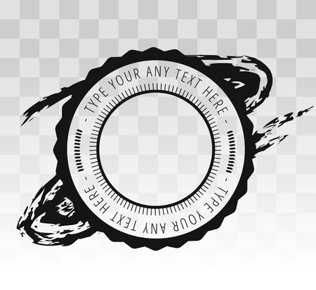 sello: Sello distintivo de la vendimia retro. Icono sello, aislado sello silueta. Icono de Sello, vector de la etiqueta del sello. Sello icono del vector del marco. Sello icono monograma del vector. Vintage vector etiqueta sello icon.Stamp vectorial Vectores