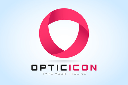 Technology orbit web rings icon. Vector circle ring design.