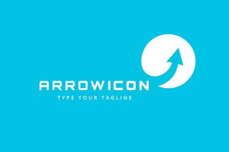 Vector arrow icon. Arrow abstract icon template. Up arrow, cursor arrow icon, arrowheads. Arrow marker and dynamic arrow symbol. Arrow isolated. Arrow vector icon. Arrow company icon Ilustração