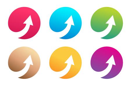 Vector arrow icon. Arrow abstract icon template. Up arrow, cursor arrow icon, arrowheads. Arrow marker and dynamic arrow symbol. Arrow isolated. Arrow vector icon. Arrow company icon Vectores