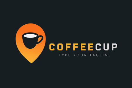 Vector coffee cup icon template.
