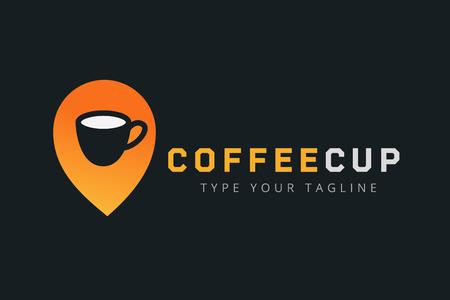 filiżanka kawy: Wektor filiżanka kawy ikonę szablonu.