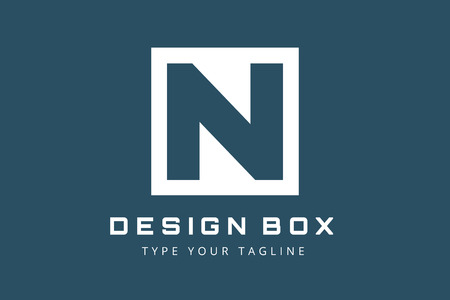 letter n: N letter vector. N icon template.