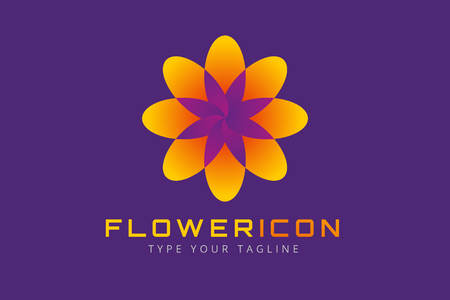 sign: Abstract flower vector icon. Nature flower icon.