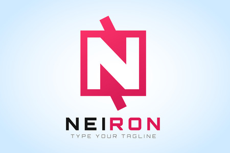 letter n: N letter vector. N icon template.   Illustration