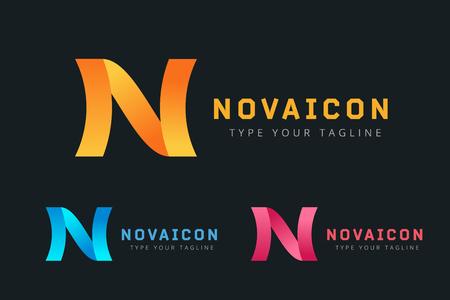 N: N letter vector. N   icon template