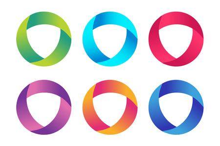 기술 궤도 웹 반지 아이콘입니다. 일러스트