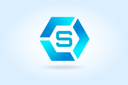 s shape: S letter vector. S   icon template.  Illustration