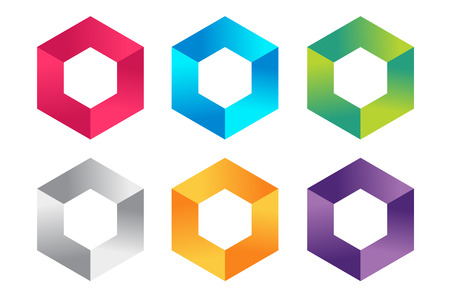 Abstract square icon vector template.