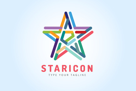 blue stars: star icon Illustration