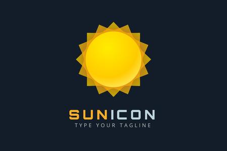 sunshine background: Sun burst star icon.