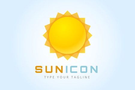 sunny season: Sun burst star icon.