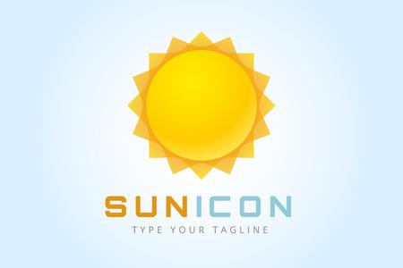 sol radiante: Sun estalló icono de estrella.