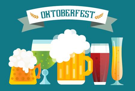 oktoberfest: Beer icons set