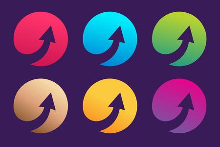 矢印の抽象的なロゴのテンプレート  イラスト・ベクター素材