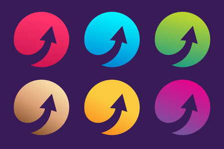 arrow icons: Arrow abstract logo template