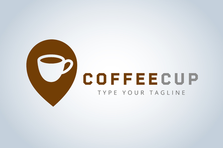 drinking coffee: coffee cup logo template