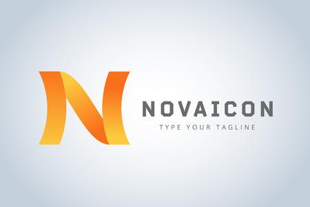 N: N logo icon template