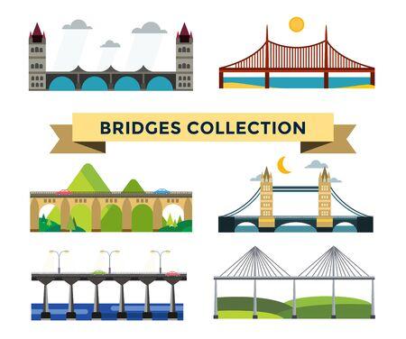 Bridges silhouette illustration Stock Illustration - 46719366