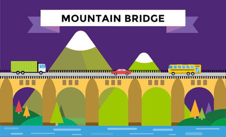 bridge: Mountain bridge landscape