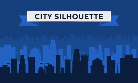 city: Dark cities silhouette