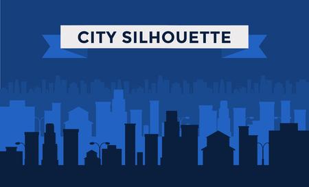 Dark cities silhouette