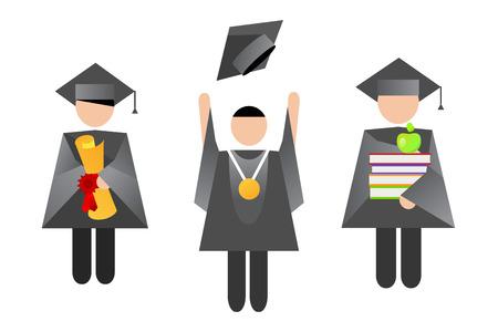 graduacion: Educaci�n gente graduaci�n ilustraci�n