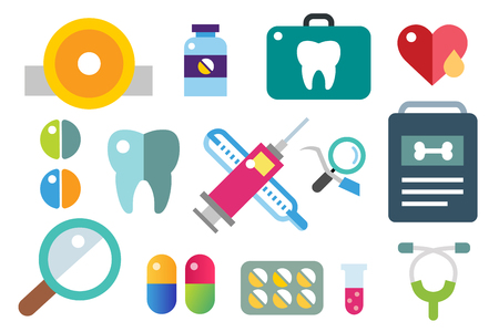 salud: Iconos de medicina conjunto