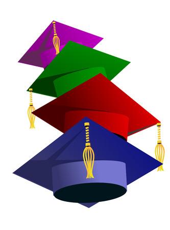 graduado: Ejemplo del sombrero de graduación