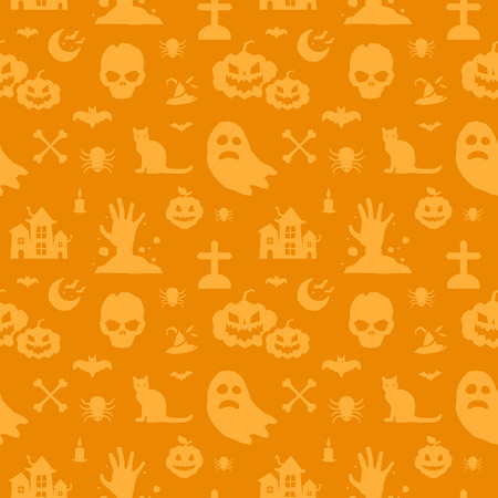 halloween background: Halloween background seamless pattern